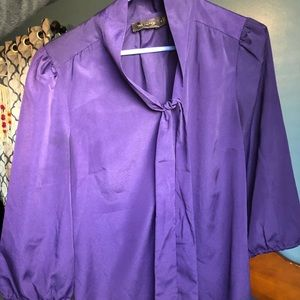 The Limited Purple tie Blouse